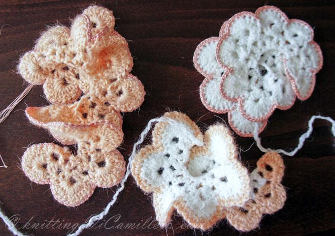 Заготовки для вязаных роз