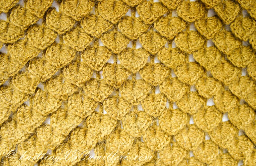 Узор вязания крючком Крокодиловая кожа