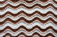 Вязание спицами. Схема узора Волны (Павлиний хвост)
